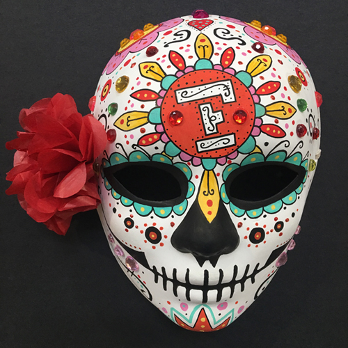 Diy Painted Sugar Skull Mask Flax Art Design