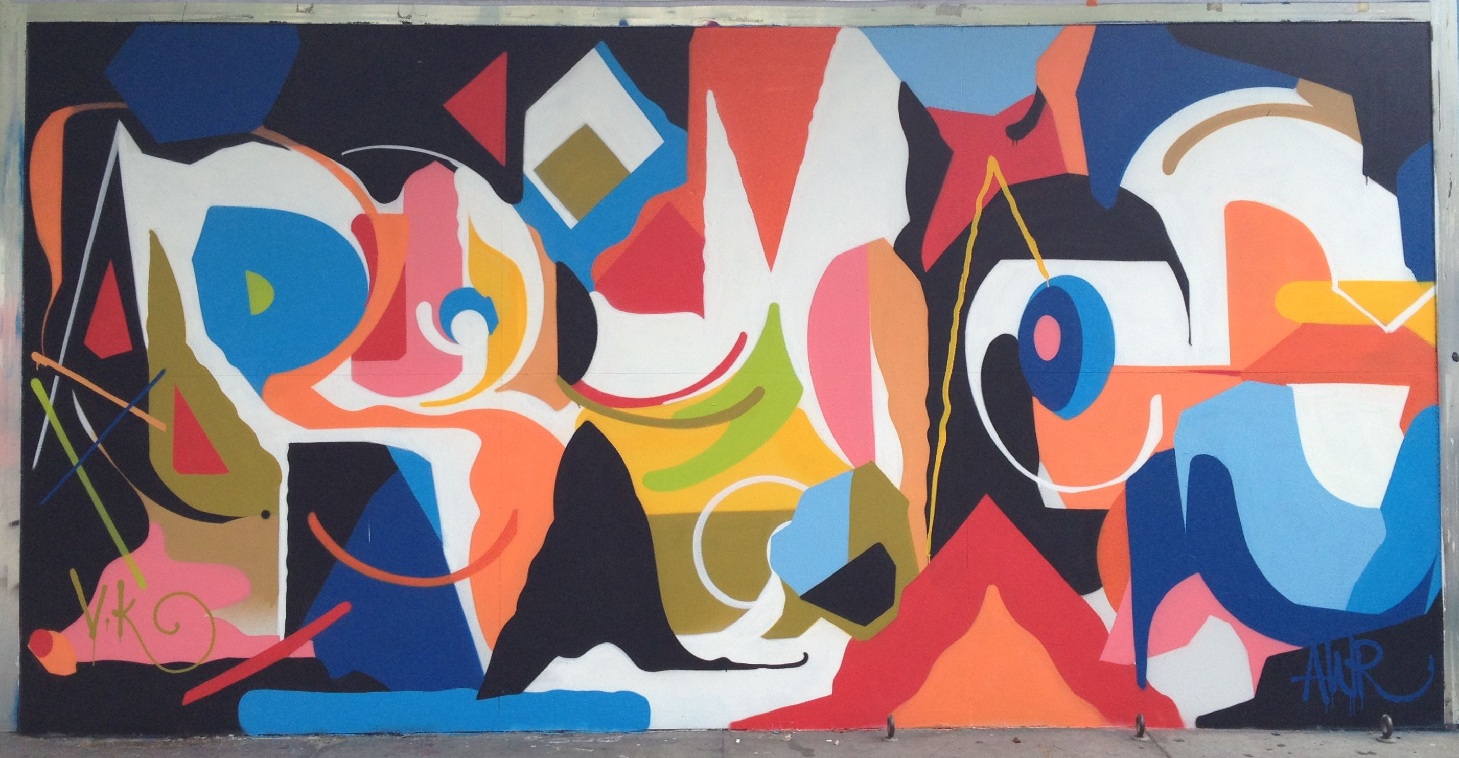 Victor Reyes New Mural At Flax Flax Art Amp Design